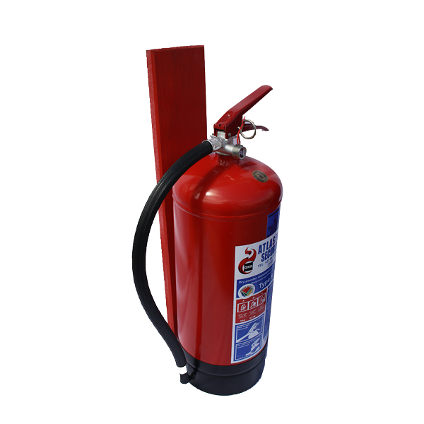 Fire Extinguisher with backing board